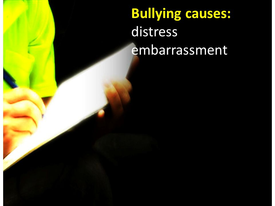 Everyone has the right to work in an environment free from: BULLYING, HARASSMENT, DISCRIMINATION and VIOLENCE.