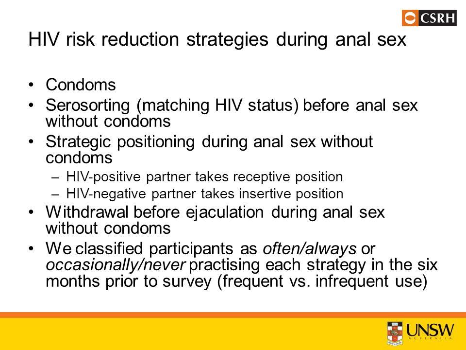 Unprotected sex hiv risk