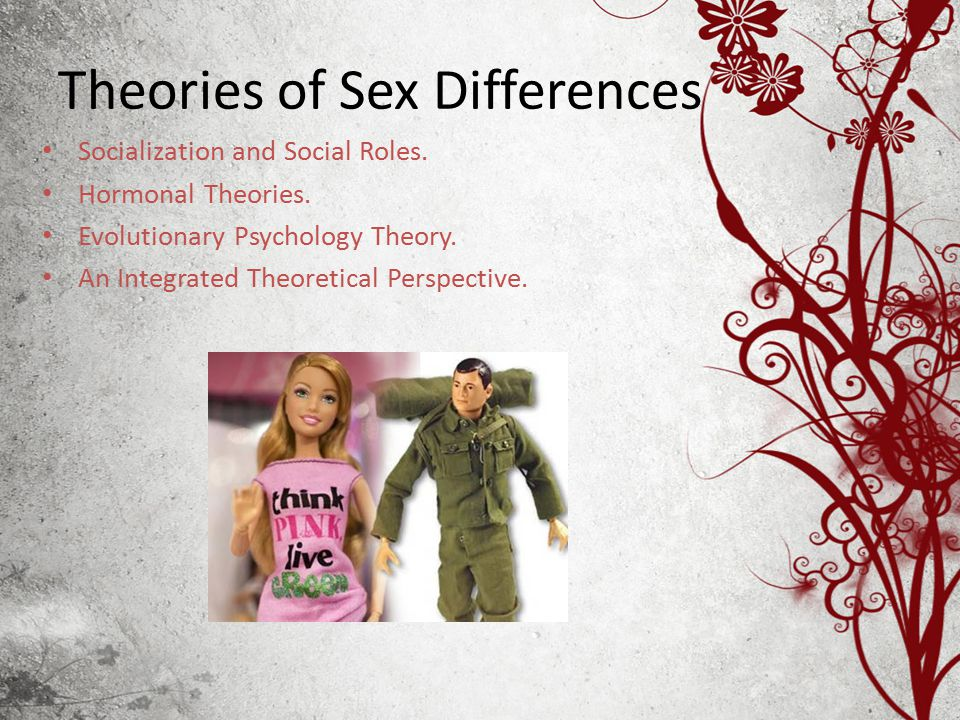Theories of Sex Differences Socialization and Social Roles.
