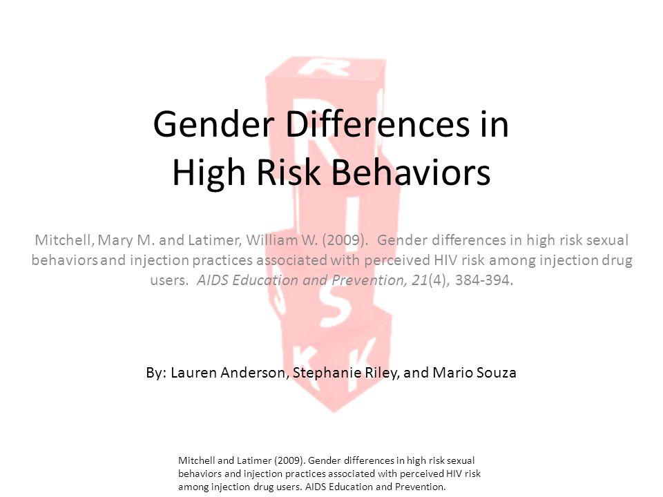 Preventing high risk sexual behavior