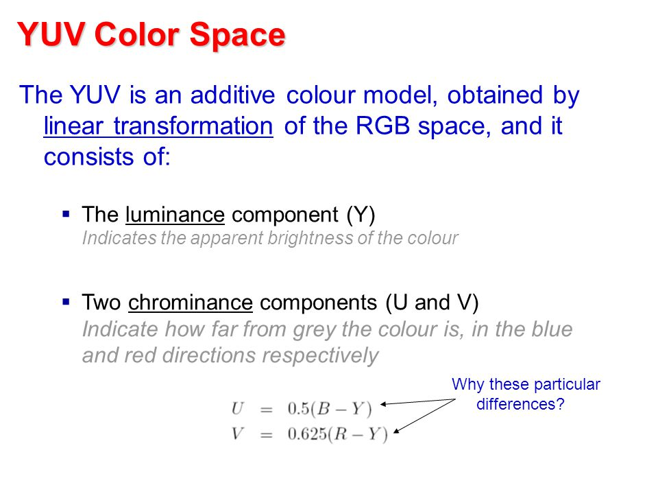 Image Processing Ib Paper 8 – Part A Ognjen Arandjelović Ognjen ... Image Processing IB Paper 8 – Part A Ognjen Arandjelović Ognjen ... Red Things red color yuv