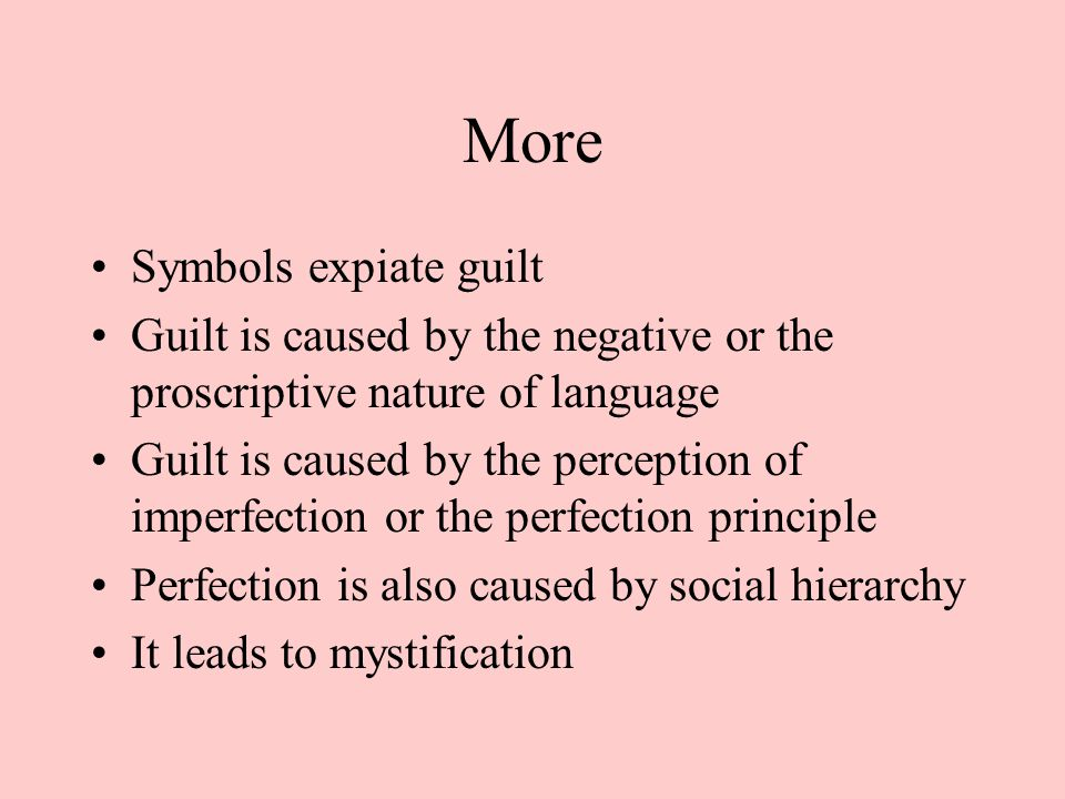 symbols of guilt