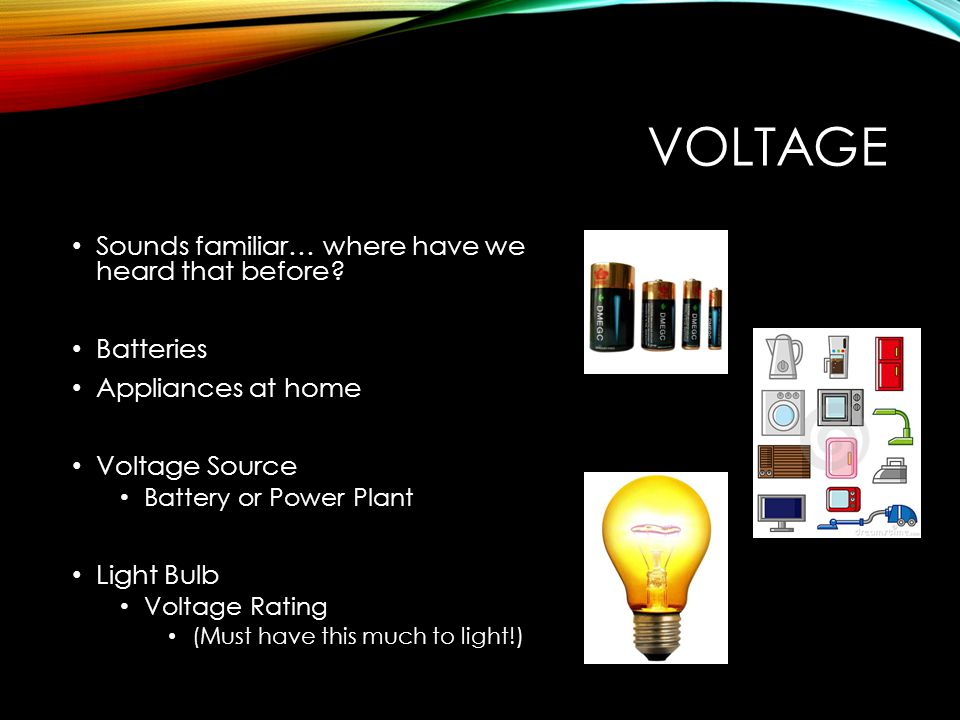 VOLTAGE Sounds familiar… where have we heard that before.