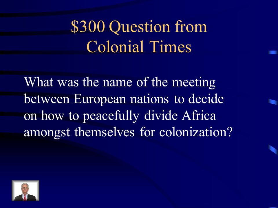 $200 Answer Scramble for Africa