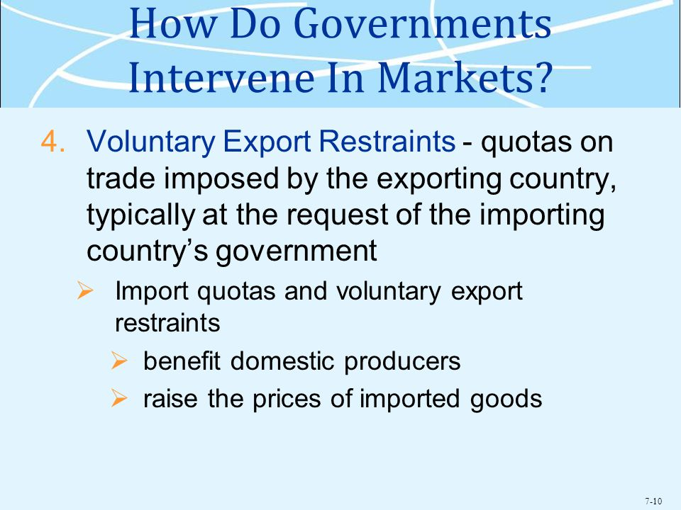7-10 How Do Governments Intervene In Markets.