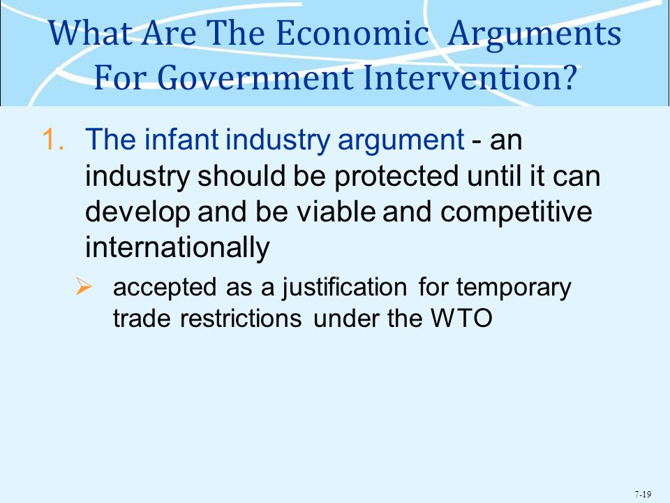 7-19 What Are The Economic Arguments For Government Intervention.