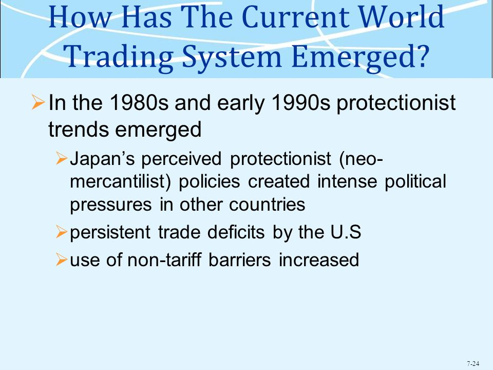 7-24 How Has The Current World Trading System Emerged.