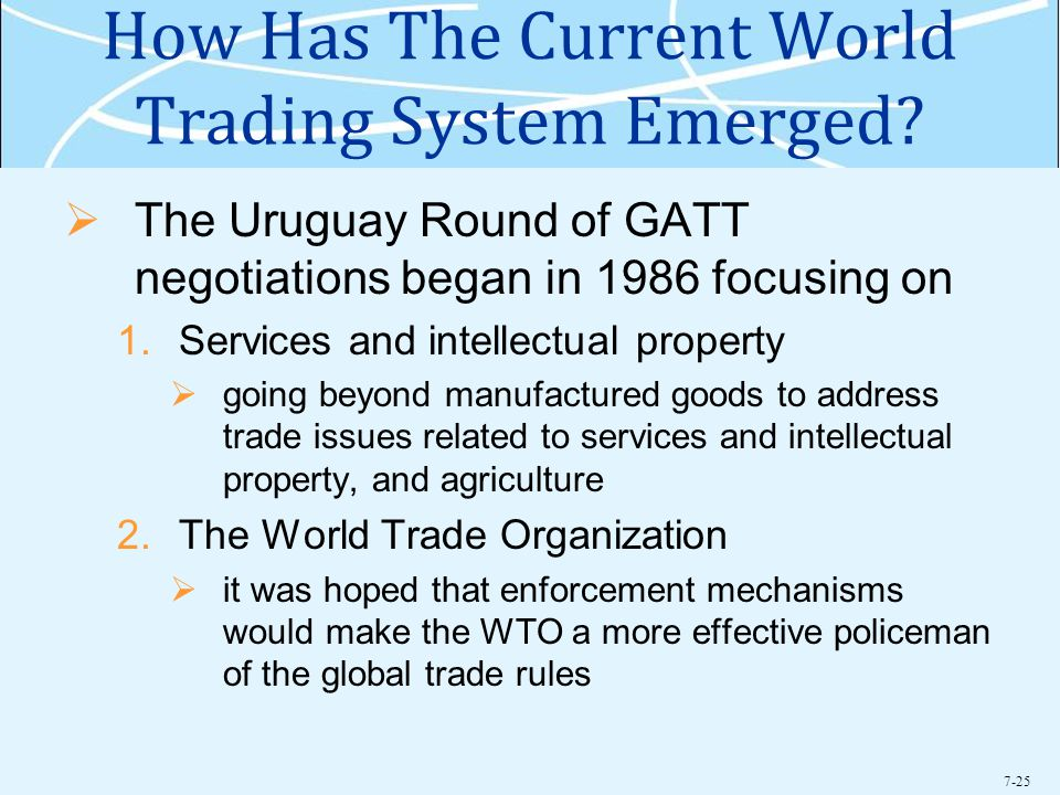 7-25 How Has The Current World Trading System Emerged.