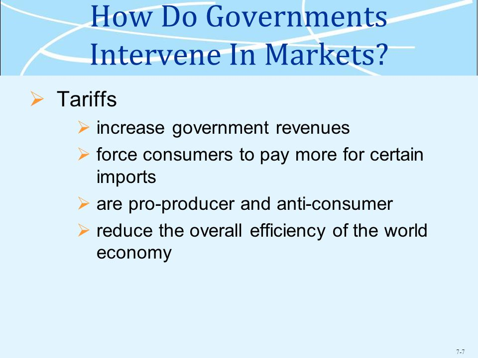 7-7 How Do Governments Intervene In Markets.