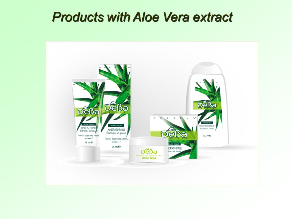 Products with Aloe Vera extract