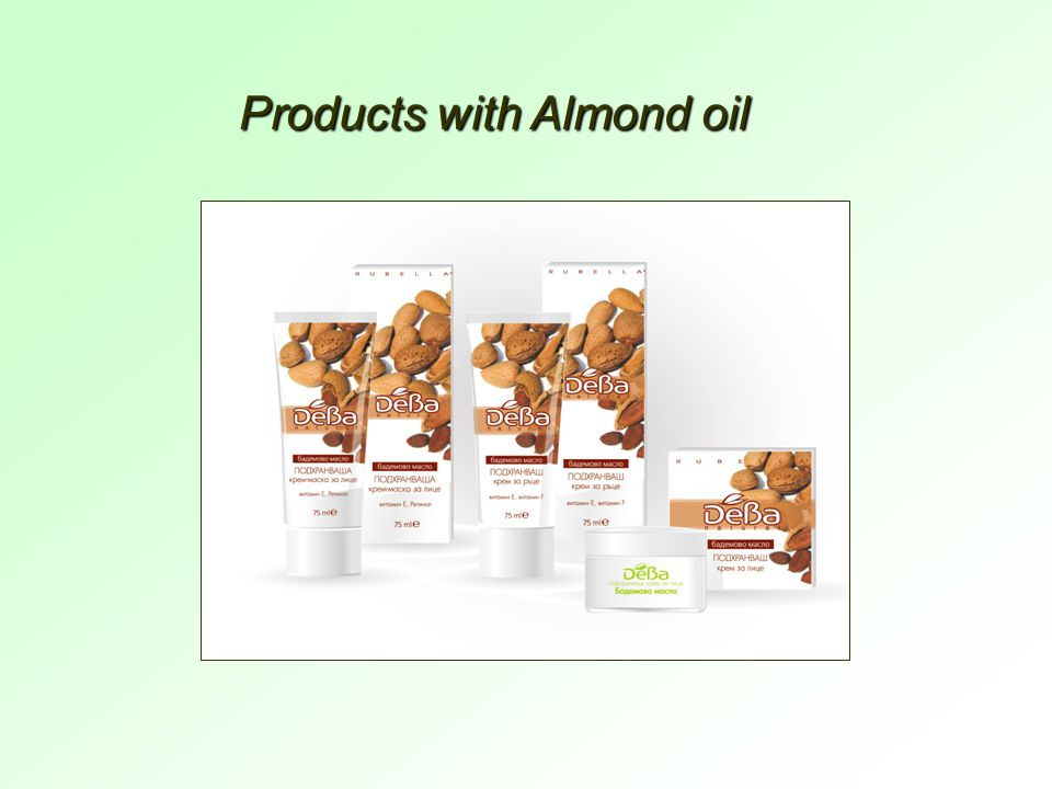 Products with Almond oil