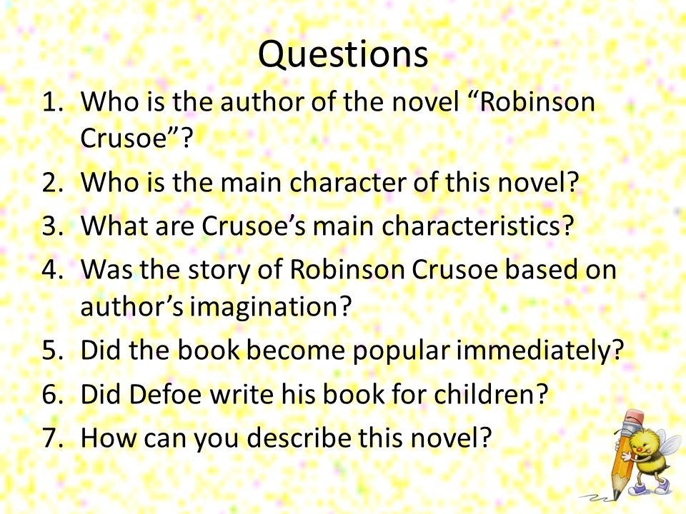 robinson crusoe main characters
