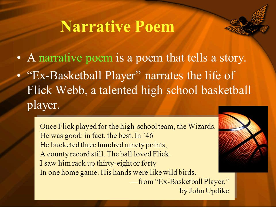 ex basketball player poem meaning