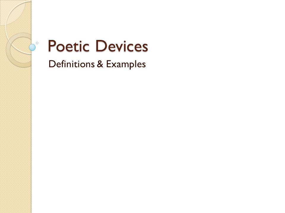 Poetic Devices Definitions Examples Alliteration The Repetition