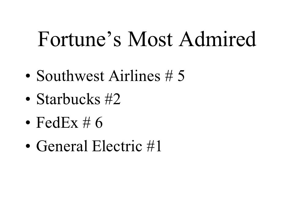 A Few Recent SWA Stats 3 Rd Most Admired Company According To
