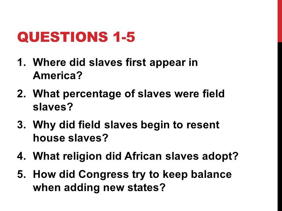 how did slavery begin