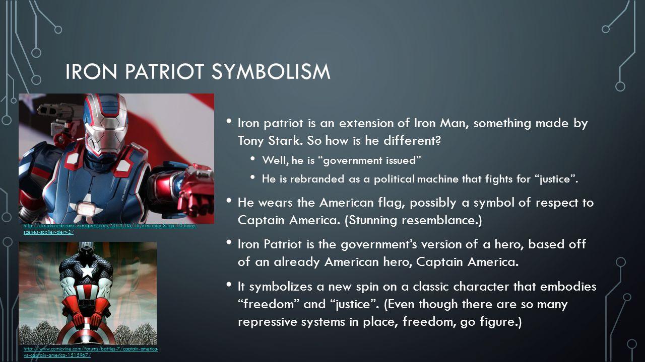 IRON PATRIOT/MAN E BARTOS  LET'S BEGIN Iron Man and Iron