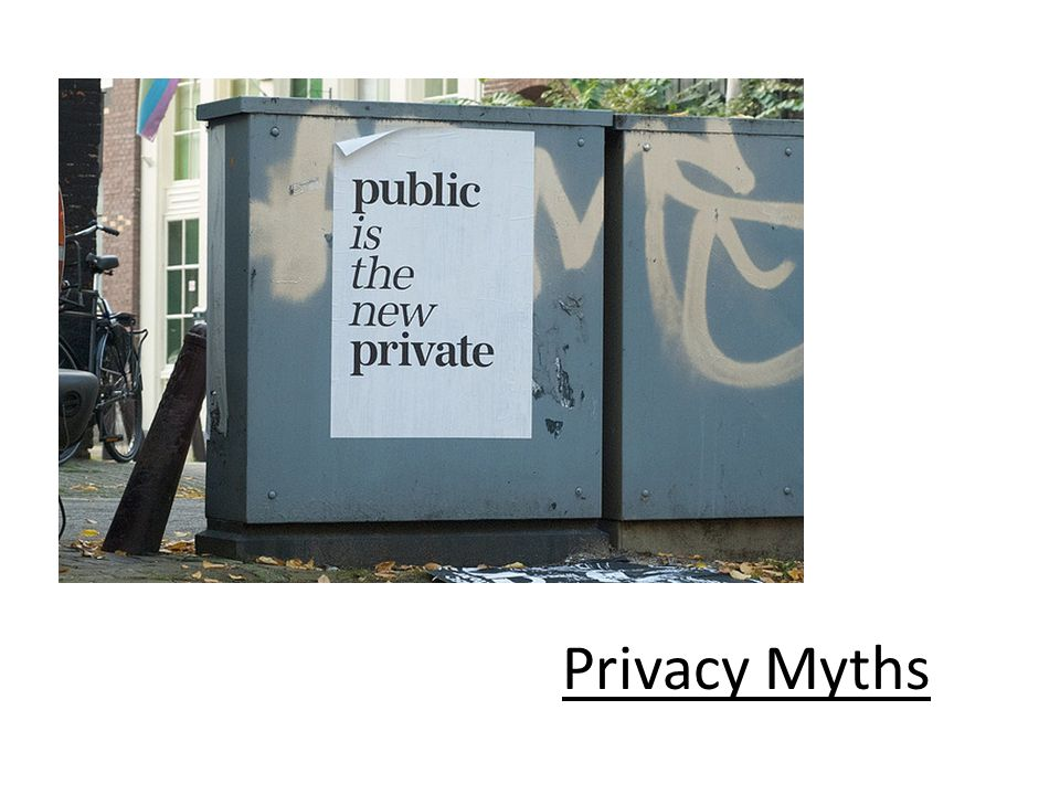 Privacy Myths