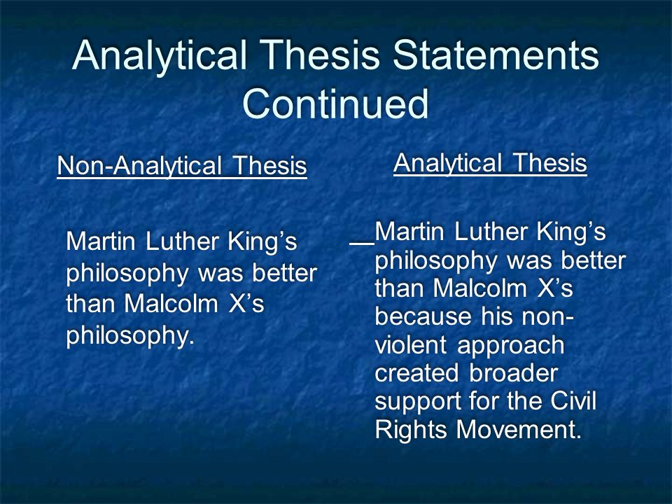 art analysis thesis statement This final thesis statement presents an interpretation of a literary work based on an analysis of its content of course, for the essay itself to be successful, you must now present evidence from the novel that will convince the reader of your interpretation.