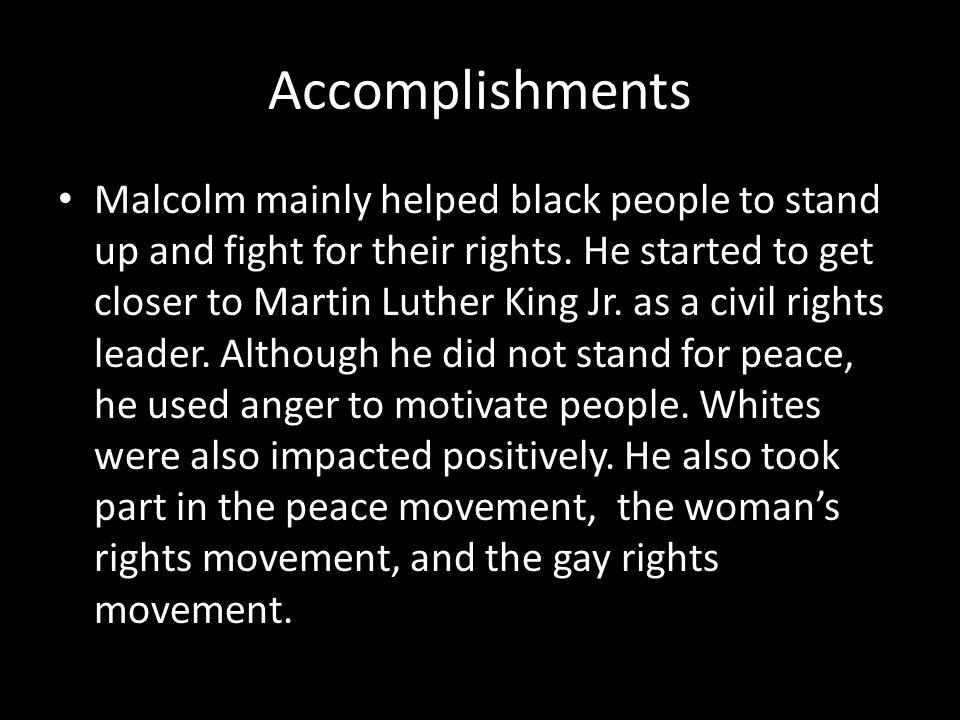 malcolm x accomplishments