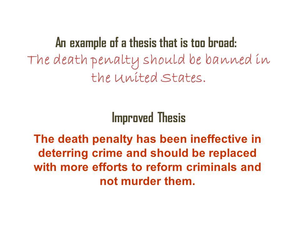 Thesis statement regarding capital punishment essay many sample scholarship