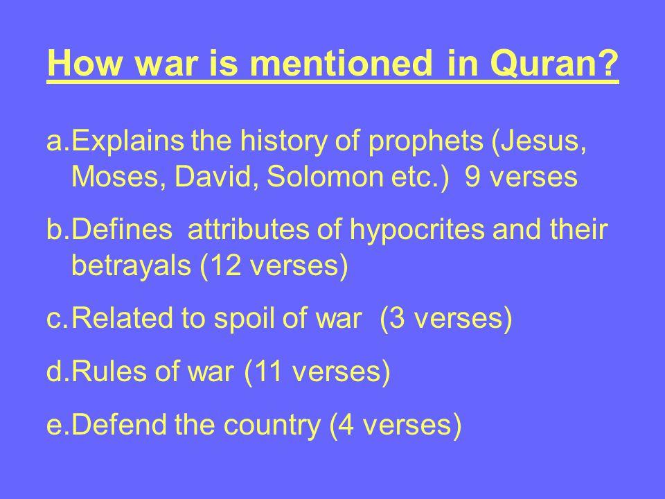 War and Peace in Quran Imam Salih YUCEL Muslim Chaplain at