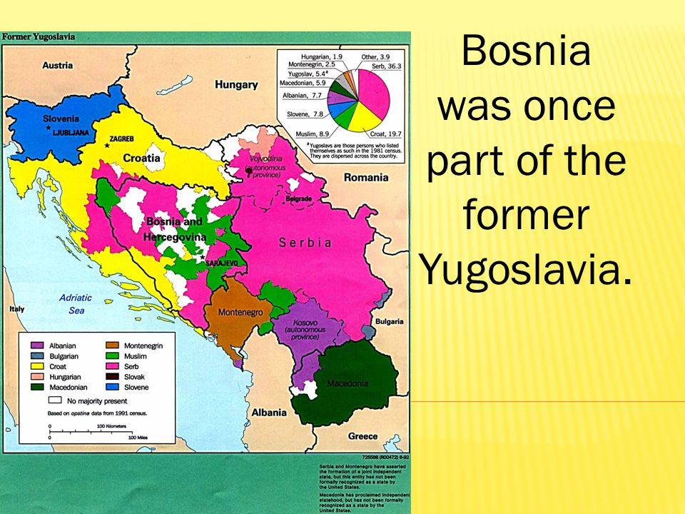 Bosnia was once part of the former Yugoslavia.