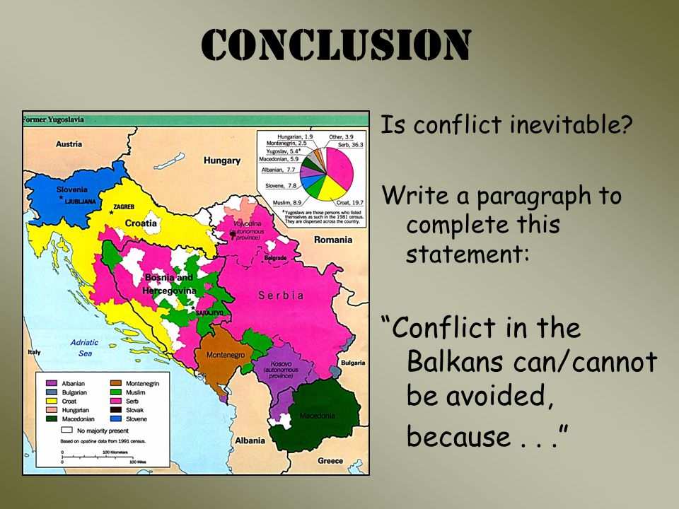 Conclusion Is conflict inevitable.
