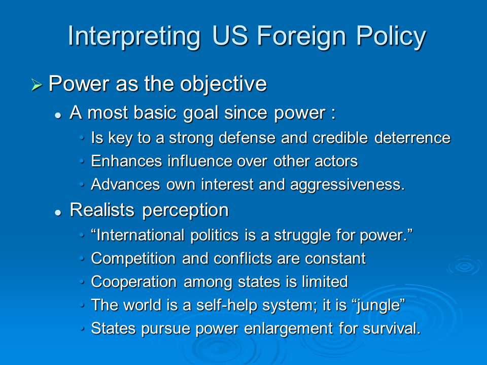 thematic essay on us foreign policy Below is an essay on foreign policy from anti essays, your source for research papers, essays, and term paper examples thematic essay: foreign policy action the united states has immensely relied its national interest through foreign policy actions since the 1900's.