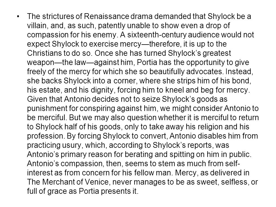 Lecture 4 The Merchant of Venice Shakespeare's Sonnets