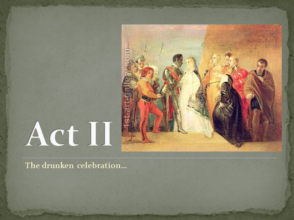 The drunken celebration…