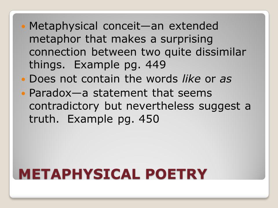 Metaphysical Poetry Pg 449 John Donne Is Best Known Met Poet 17 Th