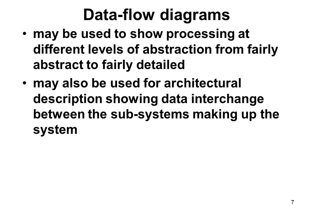 1 Introduction To Data Flow Modelling The Data Flow Approach To