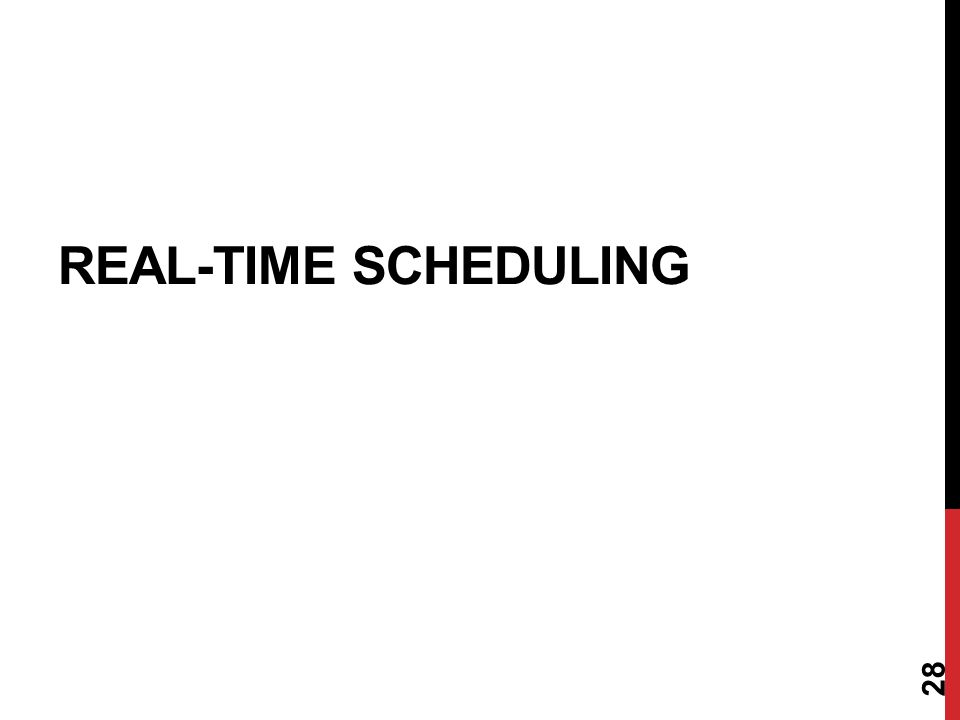 REAL-TIME SCHEDULING 28
