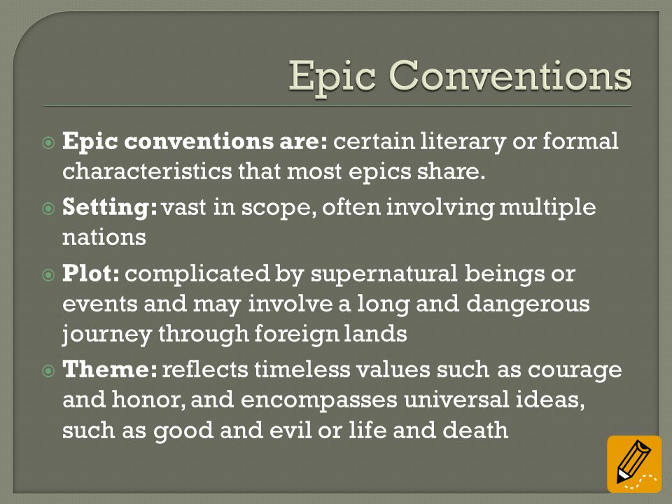epic conventions definition