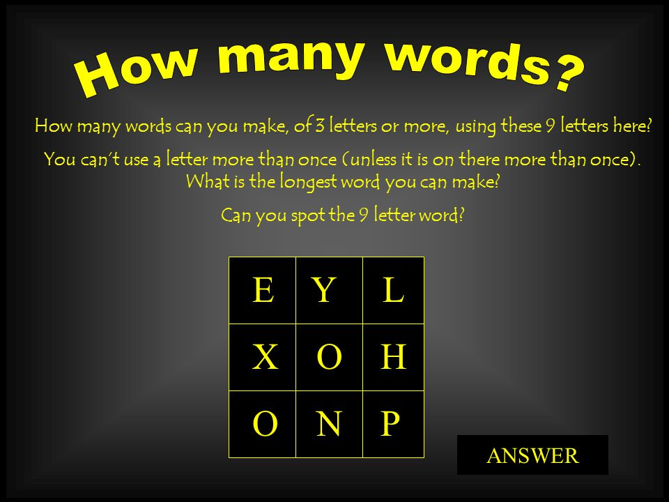 Can you spot the 9 letter word ppt video online