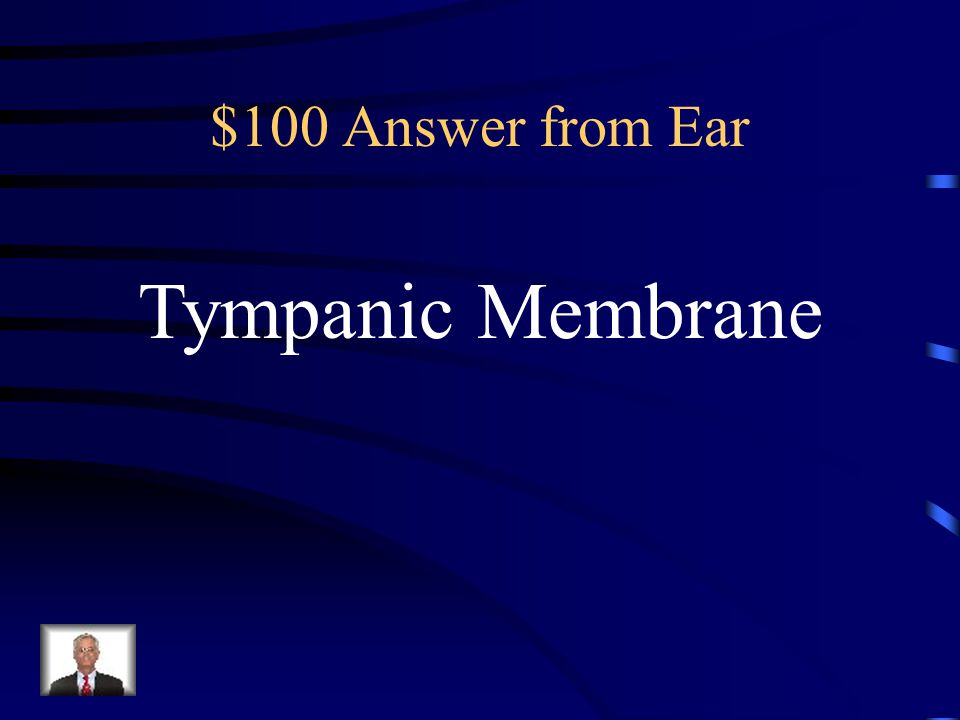 $100 Question from Ear The Eardrum is also known as the: