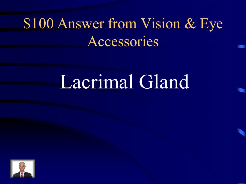 $100 Question from Vision & Eye Accessories Gland that produces Tears