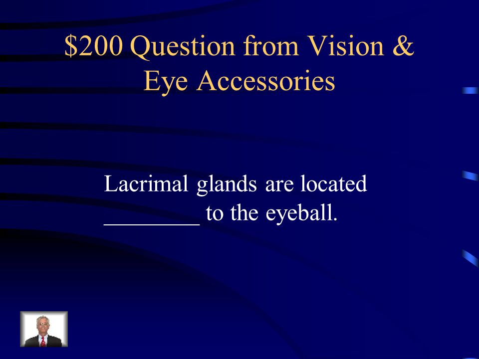 $100 Answer from Vision & Eye Accessories Lacrimal Gland