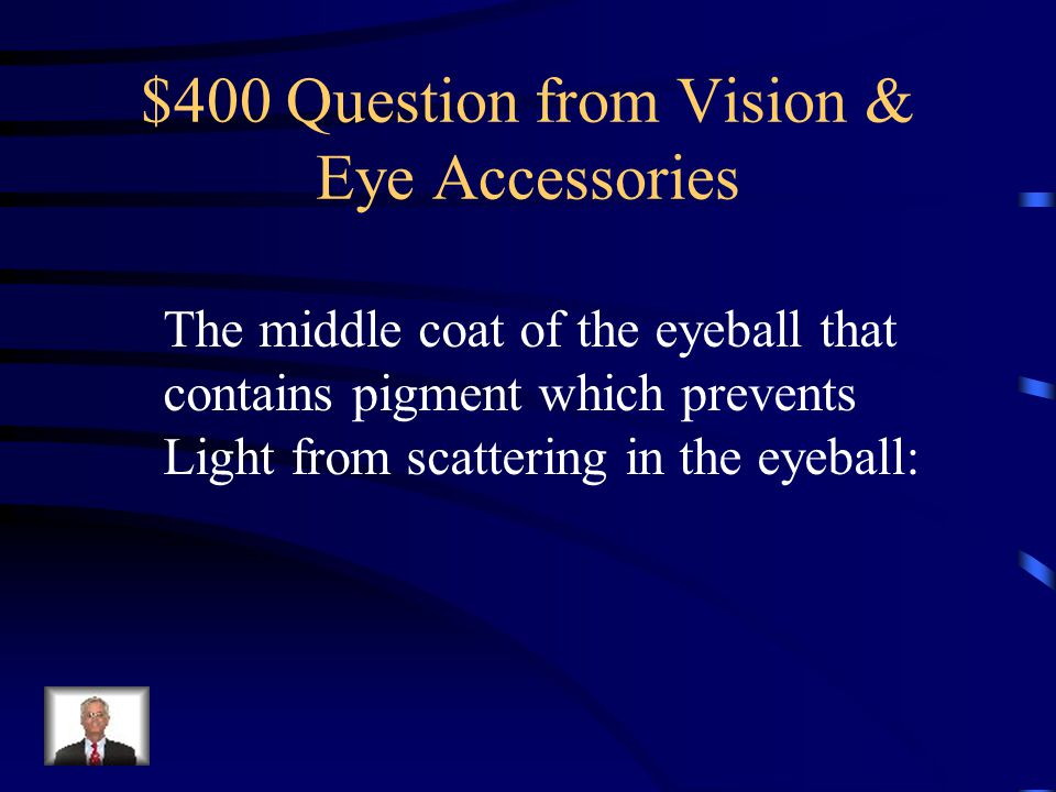 $300 Answer from Vision & Eye Accessories Red, Blue and Green