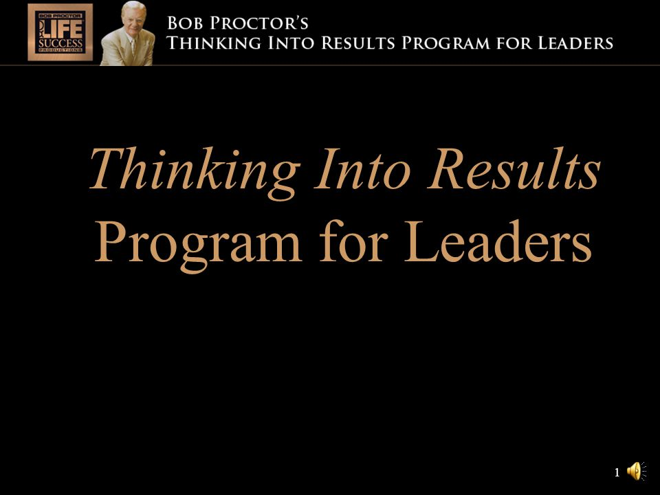 1 thinking into results results automatically improve when people