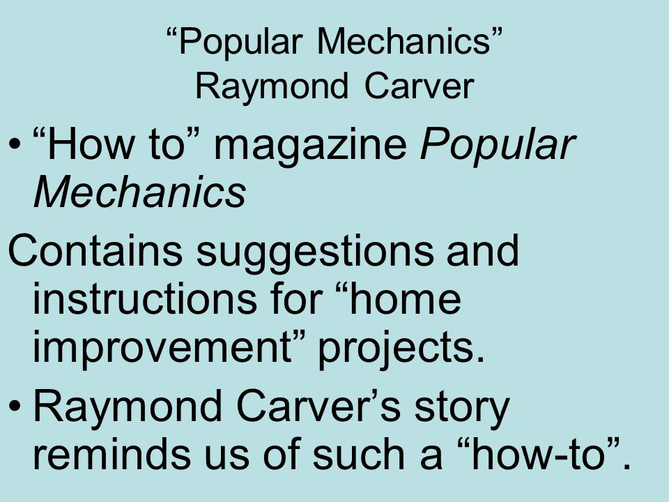 theme of popular mechanics
