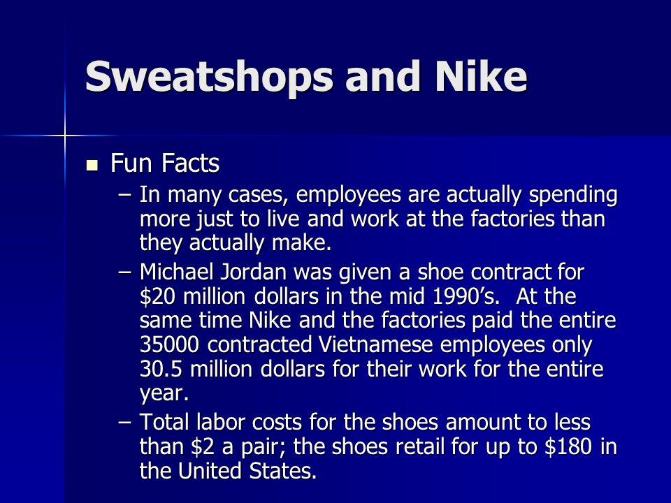 nike sweatshops facts