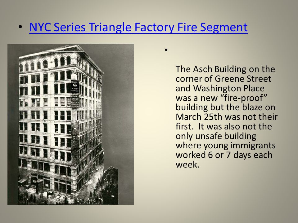 the triangle shirtwaist fire paper 2011 marks the 100th anniversary of the triangle shirtwaist factory fire, in which 146 people died when a fire ripped through the new york city factory in.