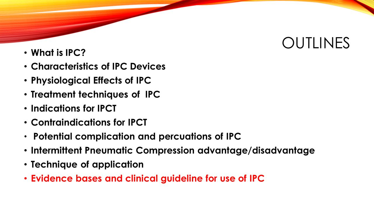 Intermittent Pneumatic Compression Therapy Ipct Mohammed Ta Omar