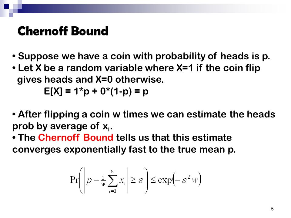 Suppose we have a coin with probability of heads is p.
