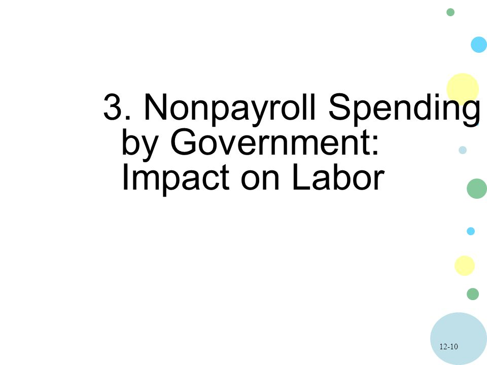 Nonpayroll Spending by Government: Impact on Labor