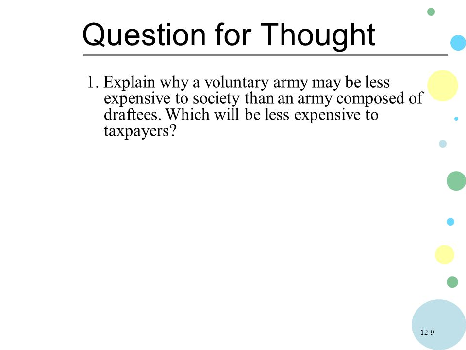 12-9 Question for Thought 1.
