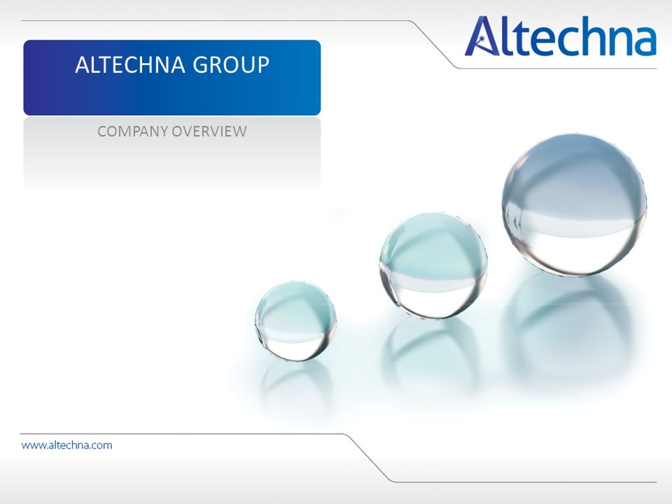 ALTECHNA GROUP COMPANY OVERVIEW