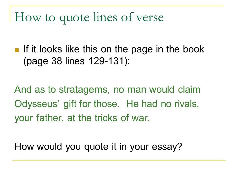 Integrating Literary Quotations How To Quote Lines Of Verse From New How To Quote A Quote